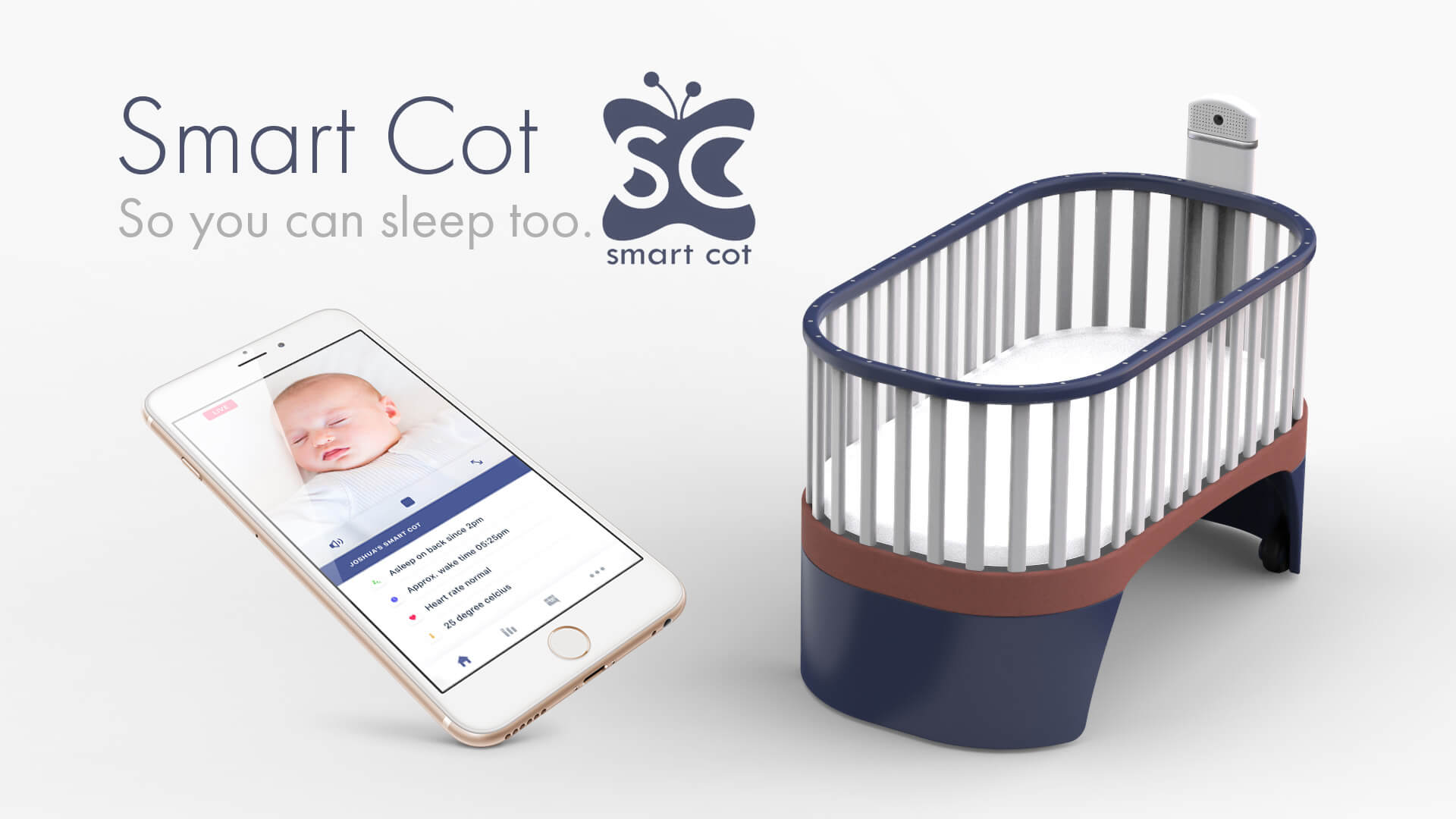 smart cot revolutionising the cot so you could sleep too. Black Bedroom Furniture Sets. Home Design Ideas
